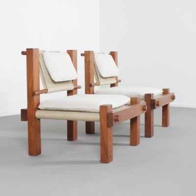 Rare 1960s Lounge Chairs by Mini Boga for Taaru