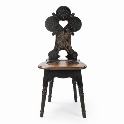 Peasant wooden chair, 1930s