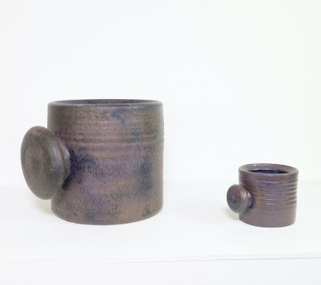 Pair of ceramic flower pots by Piet Knepper for Mobach, 1960s
