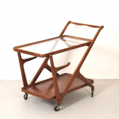Serving trolley by Cesare Lacca for Cassina, 1950s