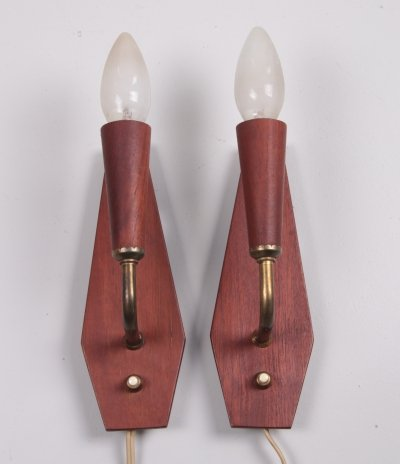 Pair of Vintage Danish wall lamps by Astoria, 1960s