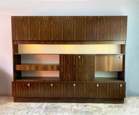 Very large mid century rosewood wall unit by Wharfside Furniture, 1970s