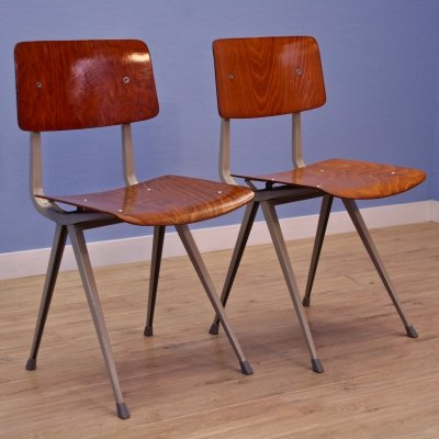 Set of 2 Dutch 'Result' chairs by Friso Kramer for Ahrend de Cirkel, 1960s