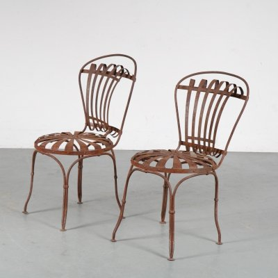 1950s Pair of garden chairs by Francois Carre, France