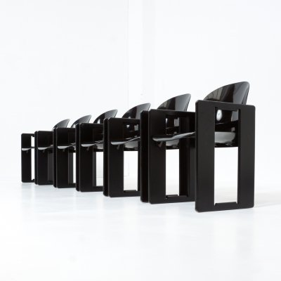 Set of 6 Dialogo Chairs by Afra & Tobia Scarpa for B&B Italia