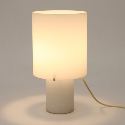 Table lamp in white glass, 1970's