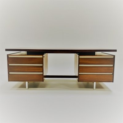 Rosewood executive desk by Kho Liang Ie for Fristho, Netherlands 1950s