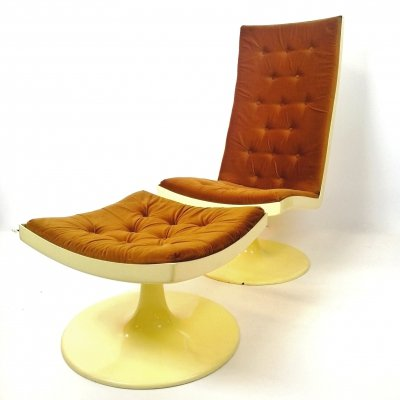 Space Age lounge chair & ottoman, Hungary 1970s