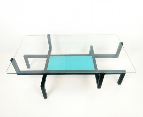 Memphis style coffee table, 1980s