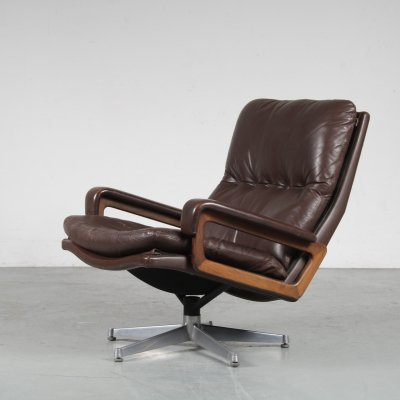 1960s 'King' Lounge chair by André Vandenbeuck for Strässle, Switzerland