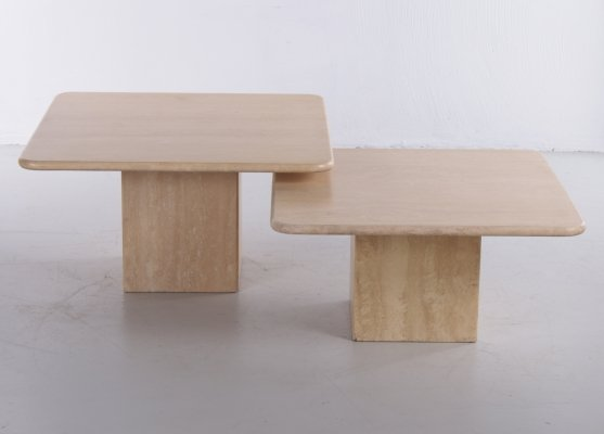 Set of natural stone coffee tables, France 1970s