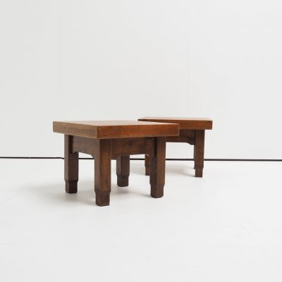 Pair of 'School of Amsterdam' style coffee tables, 1930s