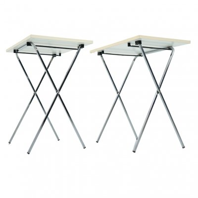 Pair of Small Folding Side Tables, 1970s