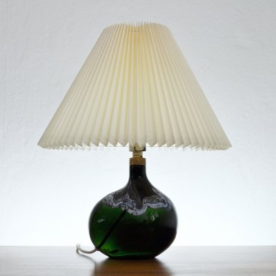 Dark Emerald Art Glass Lamp by Michael Bang for Holmegaard, 1970s