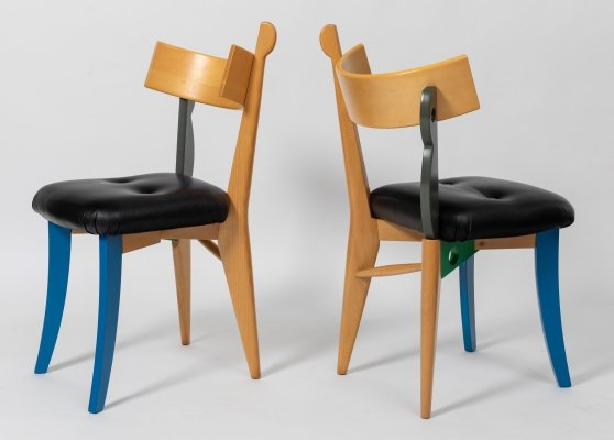 Pair of 'Quasimodo' Chairs by Weil & Taylor for Anthologie Quartett, 1988