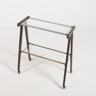 Mid- Century modern serving cart/side table, Italy 1960s