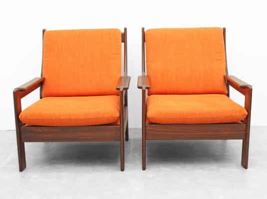 Pair of of mid sixties lounge chairs