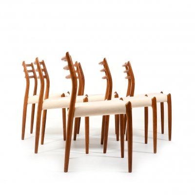Set of 6 'Model 78' Dining Chairs in Teak by Niels O. Moller, 1960s
