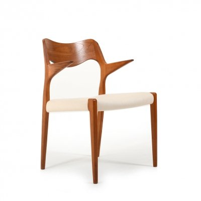 No. 55 Chair in Teak by Niels O. Moller, 1960s