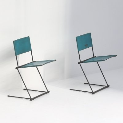 Pair of Ballerina dining chairs by Herbert Ohl for Matteo Grassi, 1980s