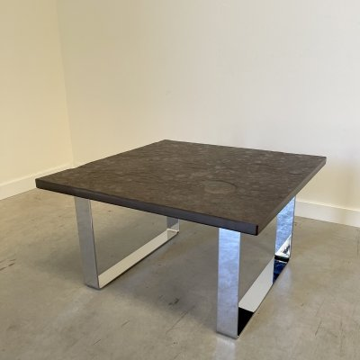 Mid century fossil coffee & side table by Draenert, 1970s