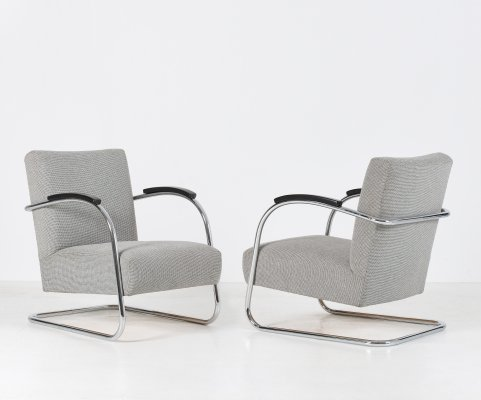 Set of 2 cantilever armchairs from Mucke & Melder, 30's