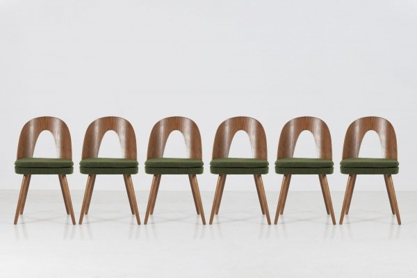 Set of 6 dining chairs by Antonin Suman, 60's