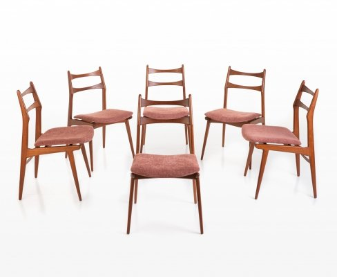 Set of 6 Habeo dining chairs, 1960s