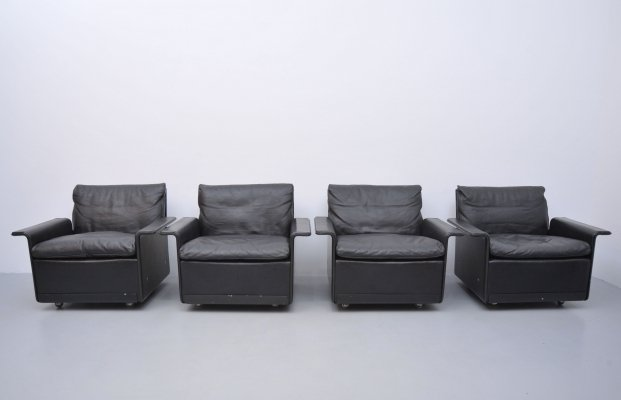 4 x model 620 lounge chair by Dieter Rams for Vitsoe, 1960s