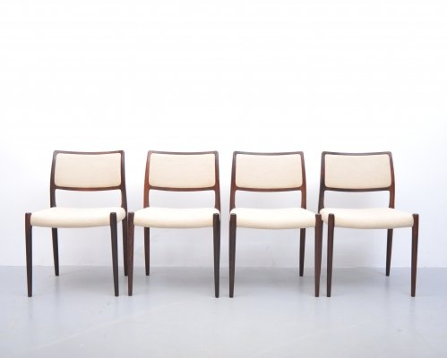Set of 4 dining chairs by Niels O. Møller for JL Møllers Møbelfabrik, 1950s