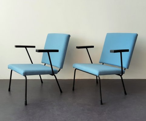 Set of 2 model 415 lounge chairs by Wim Rietveld for Gispen, The Netherlands 1950s