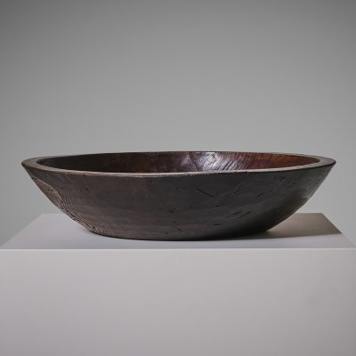 Japanese Elm wooden Bowl, early 20th Century