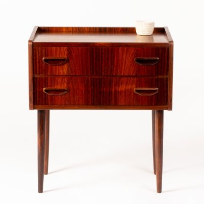 Mid century Danish small rosewood chest of drawers, 1960s