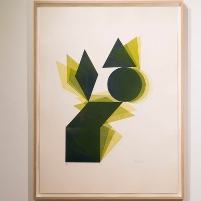 Pol Bury Etching & aquatint in colour, Signed & numbered: 18/50