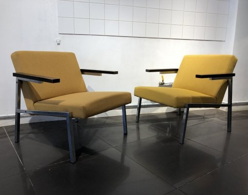 Modernist Pair of 'SZ66' Easy Chairs by Martin Visser for 't Spectrum, 1960s
