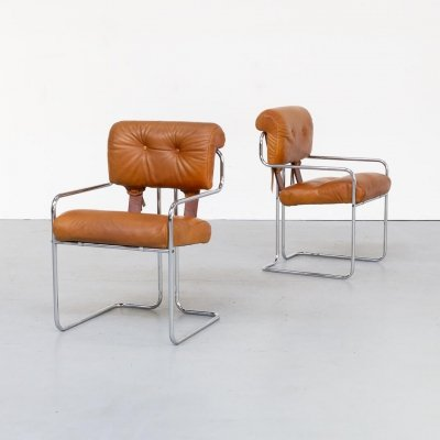 Pair of Guido Faleschini 'Tucroma' Dining Chairs for i4 Mariani, 1970s