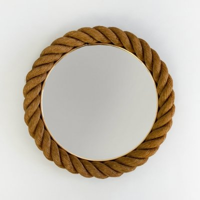 Rope mirror by Adrien Audoux & Frida Minet, 1950s