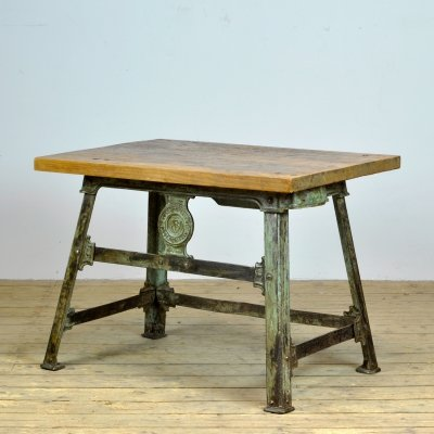 Industrial side table, 1920s