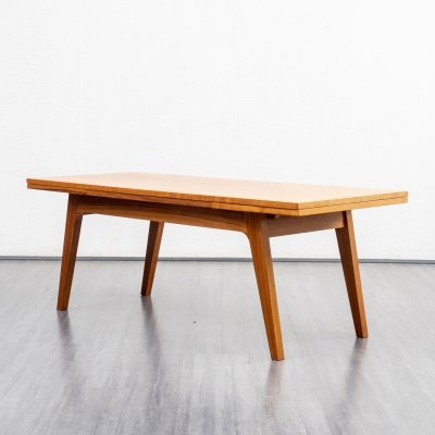 1960s extendable coffee table in zebrano wood