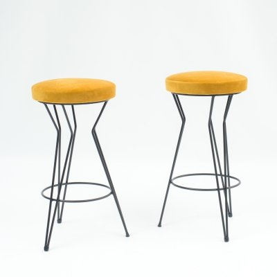 Set of two 1950s bar stools
