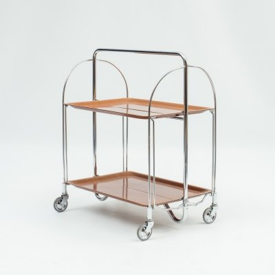 Classic 1960s foldable serving trolley