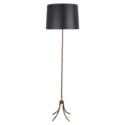 Faux Bamboo French 1950s Floor Lamp With Four Feet