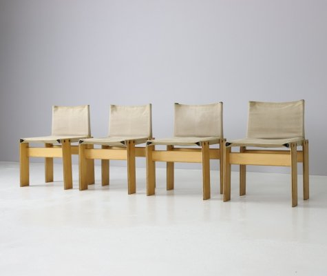 Set of 4 'Monk' chairs by Afra & Tobia Scarpa for Molteni, 1974