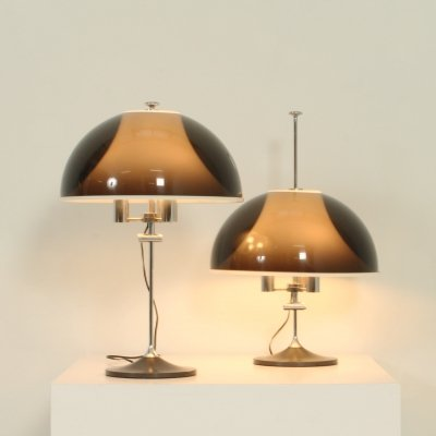 Pair of Adjustable Table Lamps by Elio Martinelli, 1960s