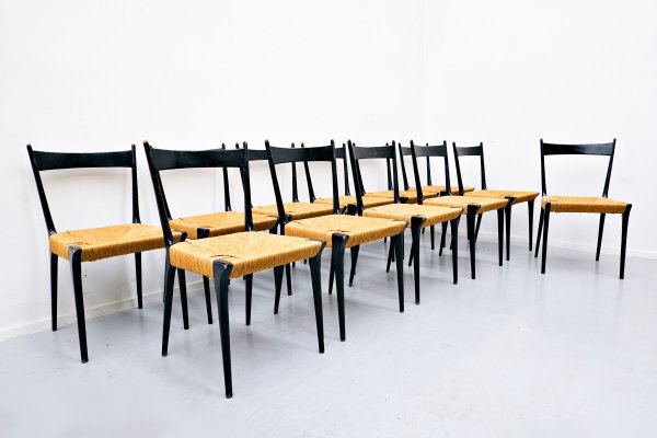 Set of 12 dining chairs by Alfred Hendrickx