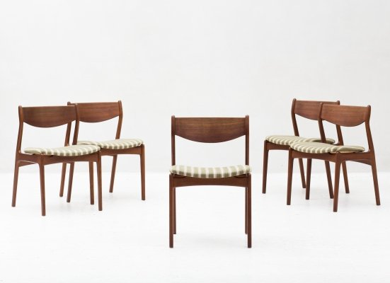 Set of 5 dining chairs, Denmark 1960