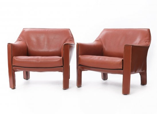 CAB 415 chairs by Mario Bellini for Cassina, 1980s