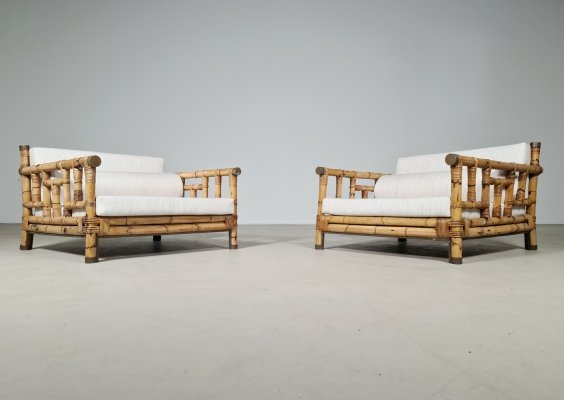 Set of 2 Ming lounge chairs by Colin Morrow for Vivai del Sud, 1970s
