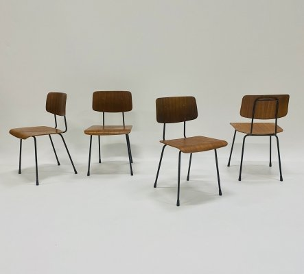 Set of 4 dining chairs '1262' by A.R. Cordemeijer for Gispen, Netherlands 1959