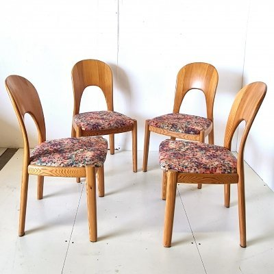 Solid wood dining chairs by Niels Koefoed for Koefoeds, Denmark 1970s
